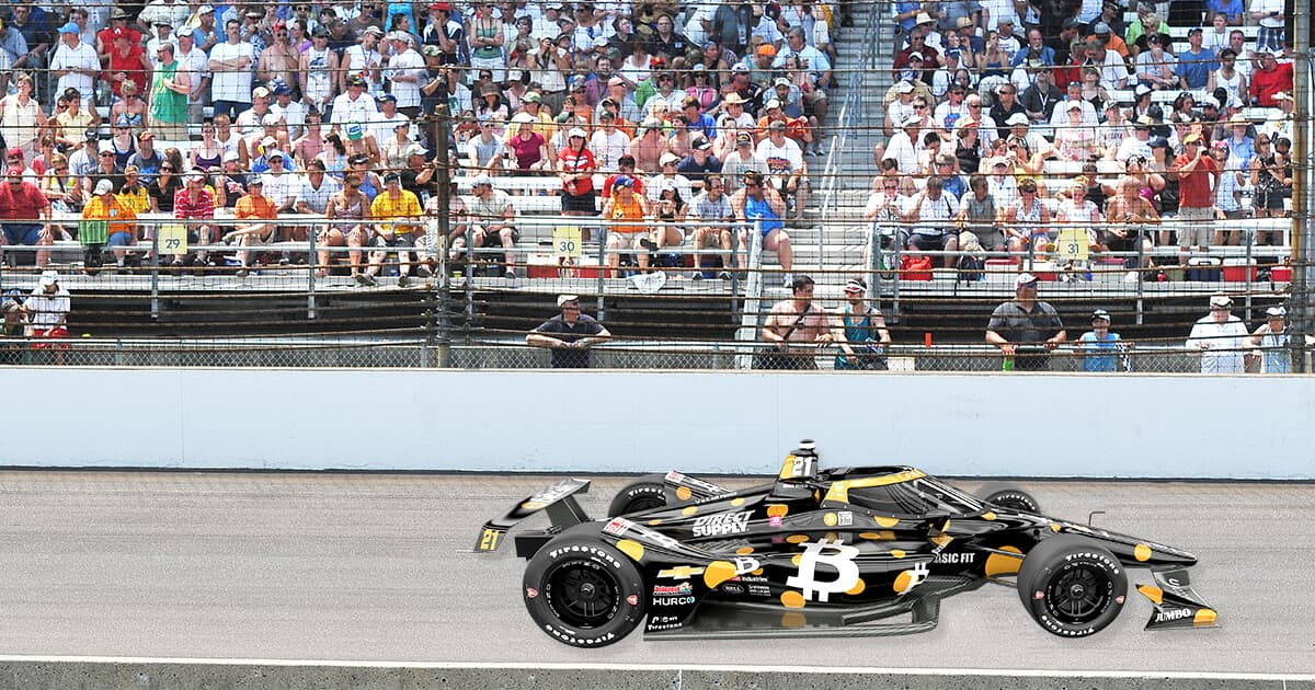 First Bitcoin Car Heads to the 105th Running of the Indianapolis 500
