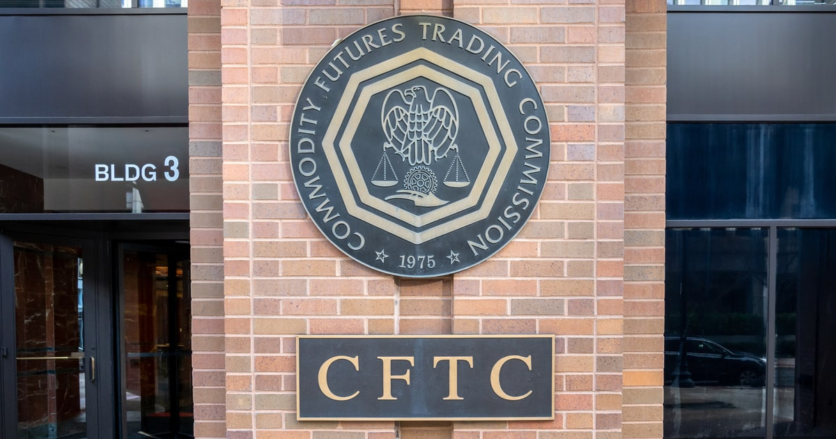 Sign of The U.S. Commodity Futures Trading Commission (CFTC) on their headquarters building in Washington